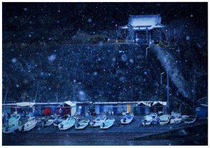 昨年の千葉県民写真展 グランプリ賞「南房総初雪舞う」坪井ひでこ
