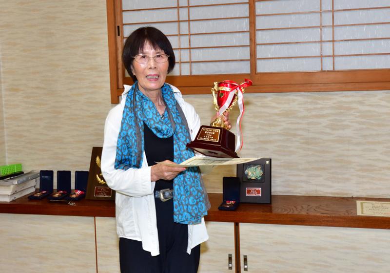 最多得点賞を獲得した、紅一点の石川さん