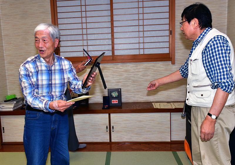 特別賞が、「日本の自然」に入賞の丹羽相談役に