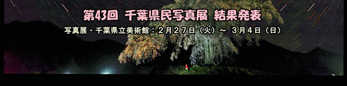< 画像5枚の手動スライド ショー >  第43回 千葉県民写真展の結果発表です。入賞作品の詳細は上の画像をクリックしてご覧下さい。